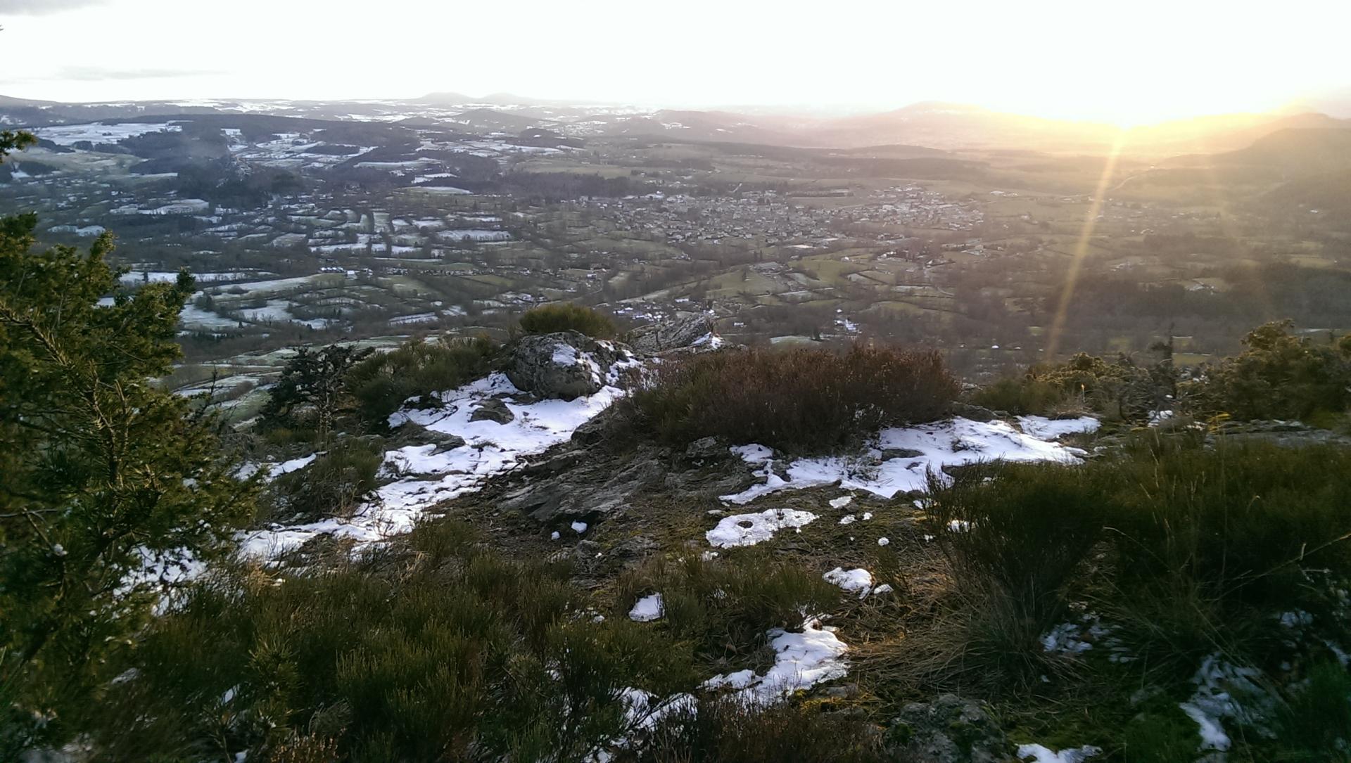 Coucher de soleil du haut du Mont Chanis